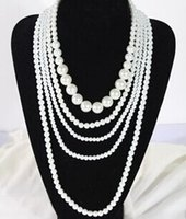 acrylic company - chinese jewelry company rope pearl necklace hot fine quality fashion white beads pearl necklace Sweater necklace