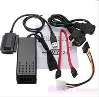 Wholesale New USB to IDE SATA S ATA Mb s HD HDD Hard Drive Adapter Converter Cable set