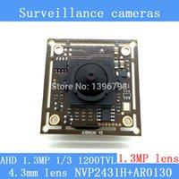 Wholesale 130W AHD coaxial AR0130 high definition monitoring camera module quot HD MP mm lens mini night vision surveillance camera