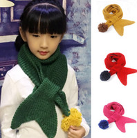 Wholesale Children mermaid Scarf Kids Scarf Girls Scarves Child Neckerchief Knitted d crochet Scarf warm scarf Christmas Gift CM LJJK582