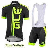 Prezzi Kit e bike-2016 pullover ALE Flou giallo Ciclismo manica corta e il ciclismo Salopette kit Bike Cycling Jersey / Ropa Ciclismo