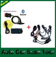 Cheap Wholesale-DHL Free Ship! 2016.3 Software+free activate ! new VCI with BLUETOOTH function tcs cdp pro +full 8pcs CAR Cables Multi-language