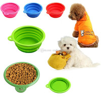 Wholesale New Collapsible Dog Cat Pet Silicone Travel Feeding Bowl Water Dish Feeder J00022 BARD