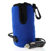 Wholesale 12V Portable DC Car Baby Bottle Warmer Heater Cover Portable Food Milk Travel Cup Covers New