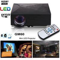 Wholesale 2016 Original GM60 Cheap Mini Projector Lumens x Video USB VGA SD Home Video GM HDMI Proyector Beamer AC3