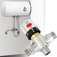Wholesale Brass Thermostatic Valve Temperature Mixing Valve Solar Water Heater Valve Parts Thermostatic Mixer For Bidet Shower Faucet