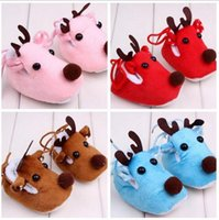 animal elastic bands - New Baby First Walkers Winter Warm Baby Cashmere Soft Shoes Cartoon Little Deer Girl Boys First Walkers