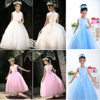 Wholesale Summer girls fancy dress to the ankle long dress children dress Multicolor optional High grade children dress