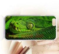 al por mayor serpientes de plástico verde-Caso libre de la parte posterior del plástico de la cubierta de serpiente verde de la caja del teléfono del envío para el iPhone 4s 5 5s 5c 6 6s más tacto de iPod 4 5 6 borde de Samsung s6