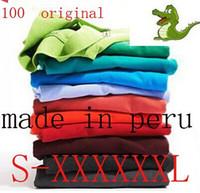 Wholesale 2016Wholesale Summer Men s Cotton Men s cotton Polo shirt Quick Dry Embroidery Crocodile Logo Casual Shirt LS plus size