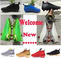 Wholesale No lace up Football Boots Outdoor ACE Purecontrol Soccer Boots FG AG Mens pure control Soccer Cleats Shoes Green Black Gold Blue White