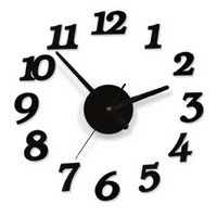 Wholesale 2016 Brand New D Wall Clocks Modern Design DIY Digital Wall Sticker Clocks Home Decoration