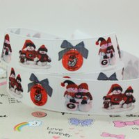 american sporting events - 7 quot mm Christmas Bulldog American Sport Team Printed Grosgrain Ribbons Apparel Party Event DIY Material Y A2
