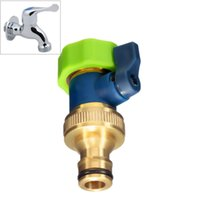 Wholesale Excellent Quality inch Thread One Way Brass TPR Water Tap Splitter Adaptor Connector Garden Irrigation Tools Model