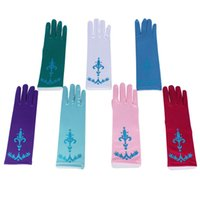 Wholesale New Snow queen elsa gloves child elsa blue gloves Polyester Gloves fantasy gloves girls princess gloves in stock