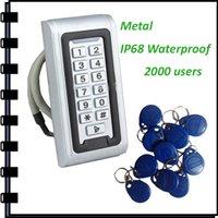 Wholesale New Metal Keypad Rfid Access Control ID EM Password IP68 Waterproof Keypad Access Control Cab be as Wiegand Reader