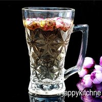 beer trading - Factory Direct marketing Transparent glass Cups scented tea Hand Cup foreign trade glass Creative Mug