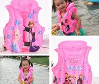 Wholesale new design frozen monsterhigh spiderman CARS Inflatable swim life vest buoy kid children s bath toy for summer autumn kid gift