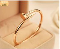 bangles models - Nail jewelry diamond bracelet couple models k rose gold bracelet Korean star the same paragraph you want