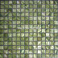 Wholesale Mosaic tiles green mother of pearl tiles Inner Wall and kitchen backsplash tiles bathroom mosaic tile