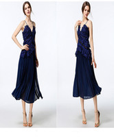 Wholesale Sexy Spaghetti V Neck Cocktail Dresses Formal Prom Dresses Online Cheap Party Gowns Lace Knee Length Celebrity Dresses Custom Made