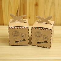 baby shower card box - Wedding Favor Candy Box Brown Carton Kraft baby shower favor box Paper Box Caixa Gift Packing Box Party Supplies