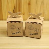 Cheap Wedding Favor Candy Box Brown Carton Kraft baby shower favor box Paper Box Caixa Gift Packing Box Party Supplies
