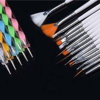 Wholesale 20pcs set Art Design Painting Tool Pen Polish Brush Set Kit Professional Nail Brushes Styling Nail Art tools