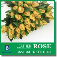 baseball collectibles - Long Stem Softball Rose Gifts COLLECTIBLES