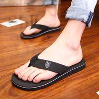 Wholesale Men flip flops new star David Beckham with the money men fashion flops beach sandals and slippers