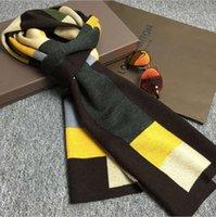achat en gros de cadeaux gros tartan-Mode Vente en gros Mode Vintage Brand Plaid Hommes 100% soie Foulard Long Cravat Scarves Double couche __For Printemps Automne Hiver