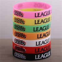Wholesale 7 Colors League of Legends Wristband Charms Silicone LOL Game Bangle New Arrival Silicone Jelly Bracelet for Men Boys