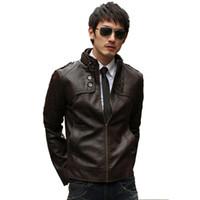 Wholesale Fall Leather Jacket Men Man Pu Leather Jaqueta Masculinas Inverno Couro Jacket Men Jaquetas De Couro Men s Winter Leather Jacket