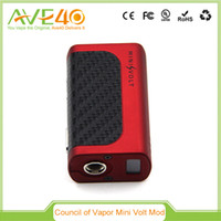 Wholesale 100 Original Mini Volt Box Mod V2 W in Black By The Council Of Vapor with and Vengeance Mini Tank