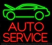 auto parts place - Auto Service Handcrafted Neon Sign Real Glass Tuble Light Car Truck Automobile Repair Washing Display Sign Parts Advertisement Sign quot x24 quot