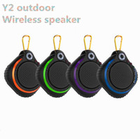 Cheap Y2 mini Outdoor Sports Portable Waterproof Wireless Bluetooth Speaker Suction Cup Handsfree MIC Voice Box For iPhone Samsung phone DHL