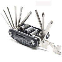 Wholesale 15 in outain Bicycle Tools Sets Bike Bicycle Multi Repair Tool Kit Hex Spoke Wrench Mountain Cycle Screwdriver Tool