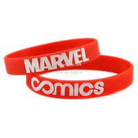 Wholesale 100PCS Cheap Printed COMICS Marvel Silicon Bracelet Wristband for Promotional Gift