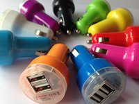 Wholesale Port A A Nipple Fat Dual USB Car Charger Adapter for iPad mini iPhone samsung galaxy S4 S5 S6 HTC