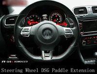 Wholesale CARBON FIBRE STEERING WHEEL SHIFT PADDLE Extensions x for VOLKSWAGEN VW GOLF MK5 MK6 GTI R20 DSG PASSAT R36 JETTA SCIROCCO EOS