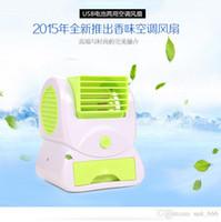 Wholesale The new fragrance fan Taobao explosion models USB mini fan cooling air conditioning fan bladeless fan perfume