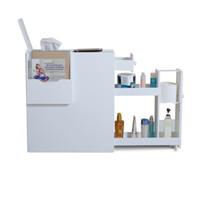 Wholesale Fashion White Wood Toilet Cabinet Toilet Storage Organizer Box with Magazine Hanger USA Stock