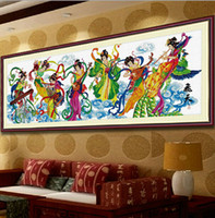 beauty abstract - Living Room Decorative Painting Lobby Painting Crafts Printing Cross stitch Character Beauty Flying Seven Fairies Xia Fan Pi