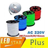 Wholesale 50 Meters Led neon flexible tube strip RGB White warm white Yellow red green Blue V waterproof IP68 lantern flexible neon light