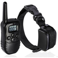 Wholesale Remote color Blue Screen Level static and Vibra Pet Dog Training Collar rechargeable Dog Training Obedience