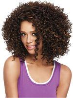 Wholesale 2016 Fashion European Woman Short Deep Wave Hair Pure Color Short Wig Gold Dark Brown Black Yellow