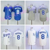 baby mike - Kansas City Royals Mike Moustakas Jersey Flexbase KC Royals Baseball Jerseys Gold with World Series Champions Patch Baby Blue Grey White