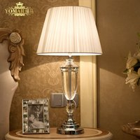 Wholesale abajur de mesa lamparas europe brief crystal bedside lamp abajur sala Lighting crystal lamp brief modern crystal table lamp