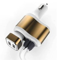 apple socket - Universal Dual USB Car Cigarette Lighter Power Socket Charger Adapter m sync data Charging Cable for phone tablet car charger