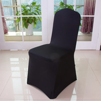 Wholesale Universal Polyester Spandex Stretch Chair Covers for Weddings Banquet Hotel Decoration White Black Red More Colors Supplies